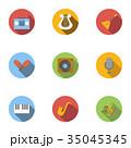音楽 ミュージカル アイコンのイラスト 35045345