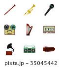 音楽 ミュージカル アイコンのイラスト 35045442