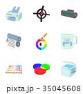プリント 印刷 染のイラスト 35045608
