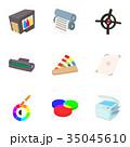 プリント 印刷 染のイラスト 35045610