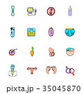 妊娠 婦人科 アイコンのイラスト 35045870