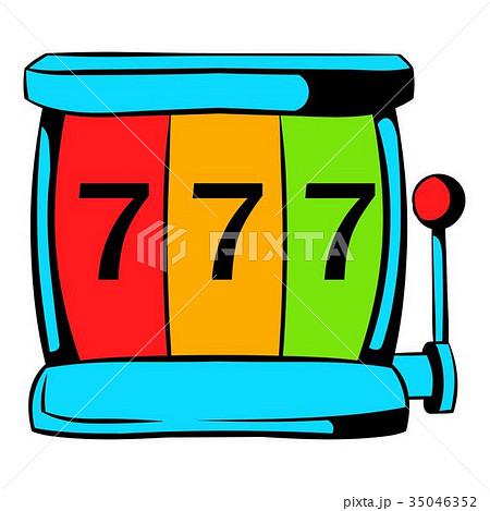 Slot machine jackpot icon, icon cartoon 35046352