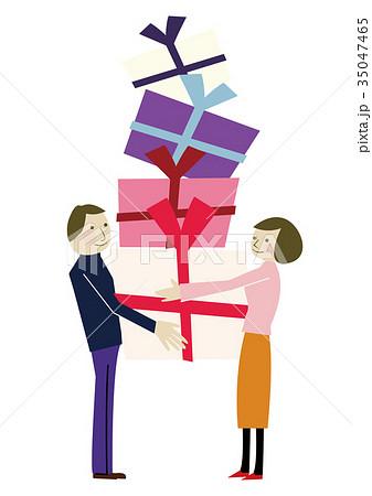 プレゼントを贈る 恋人 または夫婦 35047465