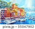 北イタリア・ポルトフィーノのスケッチ 35047902