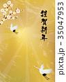 年賀状 和風 ベクターのイラスト 35047953
