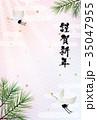 年賀状 和風 ベクターのイラスト 35047955