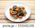 鶏肉 食べ物 野菜の写真 35048106