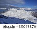 屋久島宮之浦岳から眺める冬の永田岳 35048870