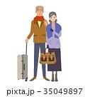 旅行に出かける 高齢夫婦 高齢者 35049897