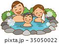 温泉 ファミリー イメージイラスト 35050022