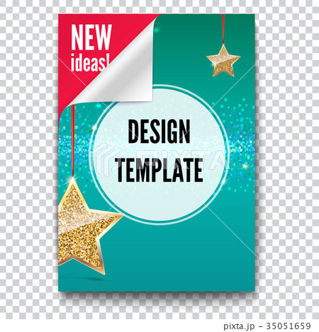 business brochure flyer design layout templateのイラスト素材