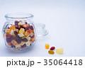 ドライフルーツ 瓶 果物の写真 35064418