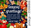 クリスマス グリーティング ベクトルのイラスト 35066666