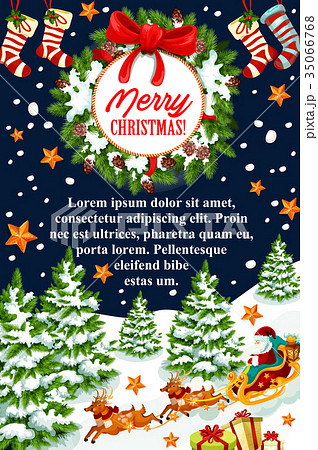 Merry christmas gift stocking vector greeting card merry christmas gift stocking vector greeting card negle Image collections