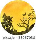 水彩 水彩画 ハロウィンのイラスト 35067038