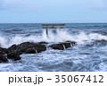 神磯の鳥居 海 大洗海岸の写真 35067412
