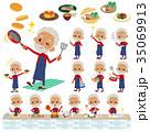 人々 人物 老人のイラスト 35069913