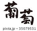 葡萄 ぶどう 筆文字 35079531