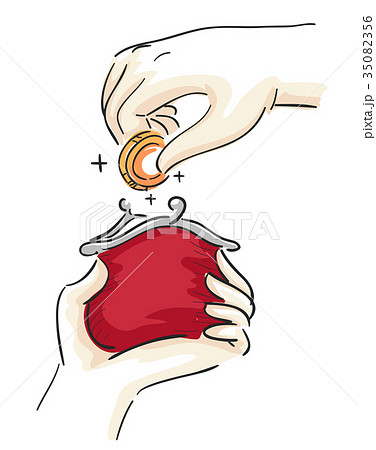 Hands Coin Purse Illustration 35082356
