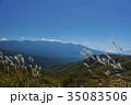 八ヶ岳 稜線 すすきの写真 35083506