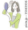 女性 髪の毛 トラブル 35083936