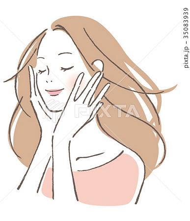 女性 微笑み 35083939