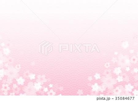 ピンク背景に花 35084677