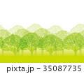 森 木 樹木のイラスト 35087735