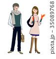 冬服の男女 35089768