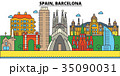 Spain, Barcelona. City skyline architecture 35090031