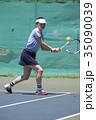 テニスをする女性 35090039