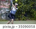 テニスをする女性 35090058