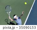 テニスをする女性 35090153