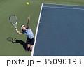 テニスをする女性 35090193