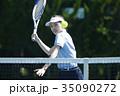 テニスをする女性 35090272