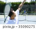 テニスをする男性 35090275