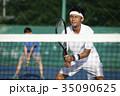 テニスをする男性 ダブルス 35090625