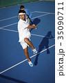 テニスをする男性 ダブルス 35090711