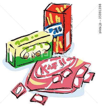 市販のお菓子のイラスト素材