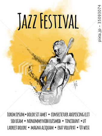 template of poster for jazz music concert manのイラスト素材