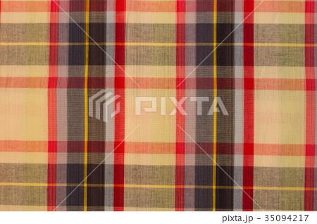 Seamless plaid fabric loincloth with stripe colorの写真素材 [35094217] - PIXTA