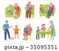 ファミリー 家庭 家族のイラスト 35095351