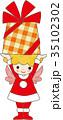 クリスマス 天使 妖精 サンタクロース 女の子 35102302