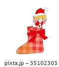 クリスマス 天使 サンタクロースのイラスト 35102303