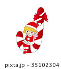 クリスマス 天使 妖精 サンタクロース 女の子 35102304