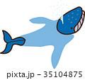 ベクター 鯨 潮吹きのイラスト 35104875