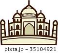 世界イラストマップ タージマハル 35104921