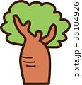 世界イラストマップ バオバブの木 35104926