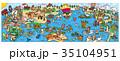 世界イラストマップ 35104951