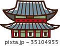 世界イラストマップ 景福宮 35104955